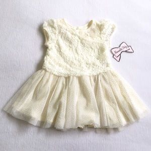 Nannette Baby Other - 💥Nannette Baby Ivory Lace & Gold Sparkle Dress