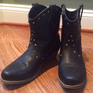 Rampage Brass Studded Ankle Boots