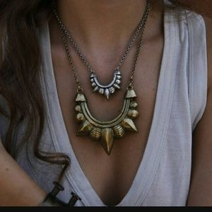 Pamela love Large tribal necklase in Bronze