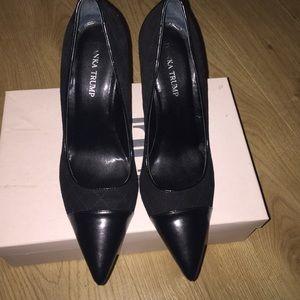 Ivanka Trump Shoes - Ivanka Trump Black multi suede pumps