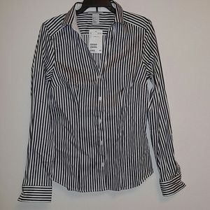 Striped H&M Button Down Blouse