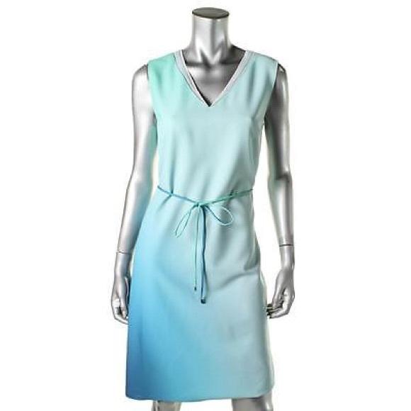 e6b5461bd3cb3 Elie Tahari Dresses   Perla Blue Crepe Ombre Sleeveless   Poshmark