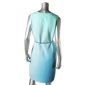 e5a8d953a5596 Elie Tahari Dresses - Elie Tahari Perla Blue Crepe Ombre Sleeveless