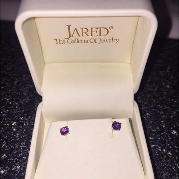 Jared Jewelry Purple And Gold Earrings Poshmark