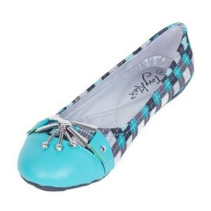 Tory Klein  Shoes - Women Colorblock Buckle Flats, b-1615, Teal