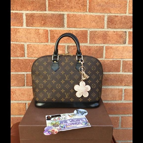 Louis Vuitton Bags   Soldauthentic Alma Dyed Black   Poshmark d9754f8b84
