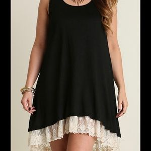 NuBella Dresses & Skirts - 🎉HP🎉 Sleeveless Little Black Dress Hi/Lo Lace