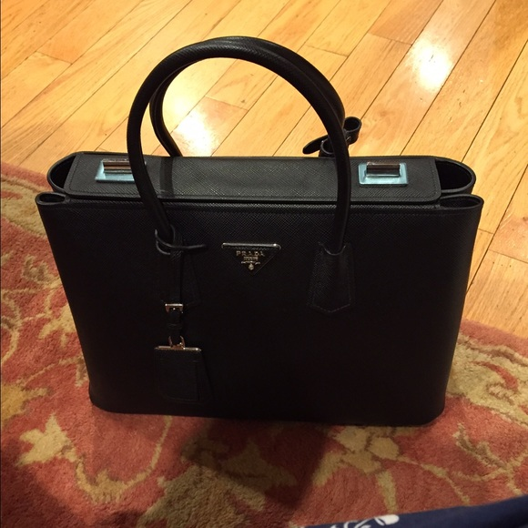 c06ae3f1fada Prada Bags | Saffiano Cuir Twin Bag Black Nero | Poshmark