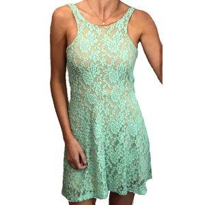 Mimi Chica Dresses & Skirts - Halter Neck Lace Skater Skirt