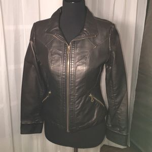 Vegan Leather Jacket size petite /petite.