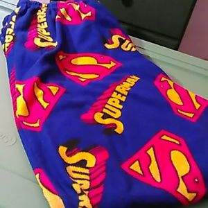 Superman Other - Super man pajama bottoms mens open front