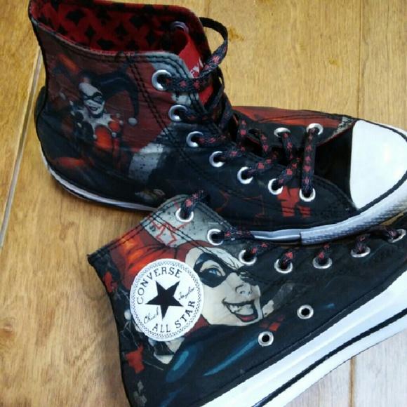 b93721b7e840 Converse Shoes - DC COMICS Harley Quinn Converse Shoes size 6