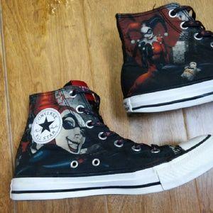 3e2df447bde0 Converse Shoes - DC COMICS Harley Quinn Converse Shoes size 6