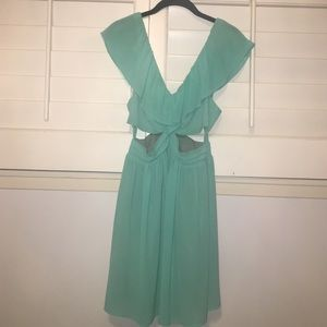 Mint chiffon cocktail dress