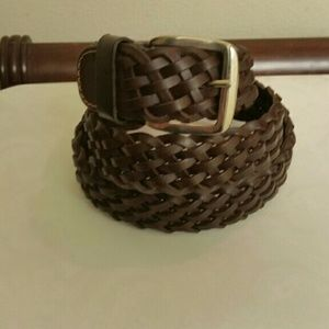 New men's original leather belt made in Italy