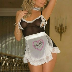 Hustler Lingeries 3PC Sexy French Maid Set.