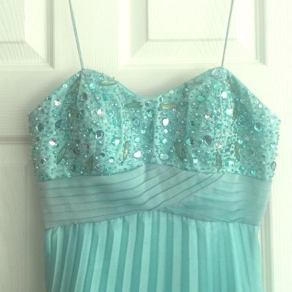 Cachet Dresses Donating 111 Aqua Bejeweled Formal Dress Poshmark