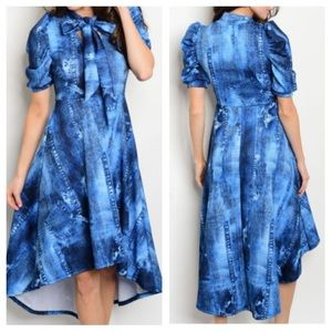 Dresses & Skirts - New- Denim Blue Stretch Dress