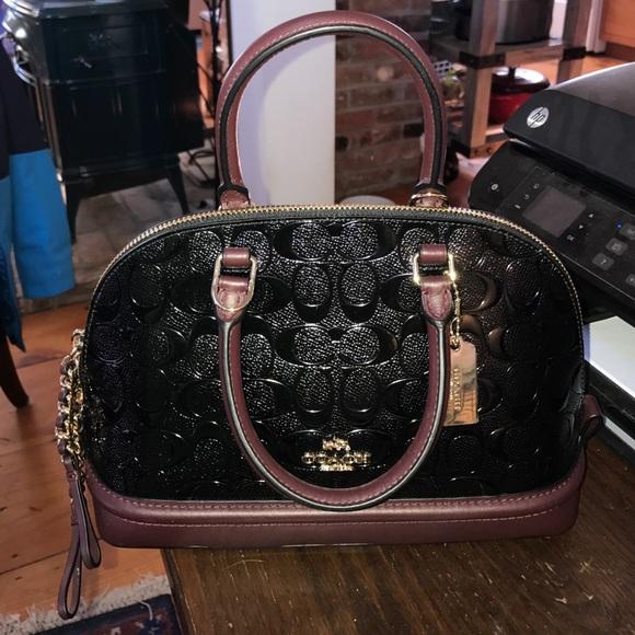 b239768f7f36 Coach Debossed Patent Leather Mini Sierra Satchel