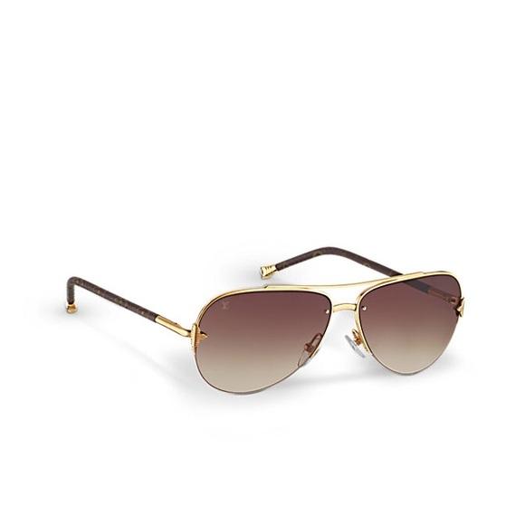 4cef4681c1374 LOUIS VUITTON Petite Viola Pilot sunglasses