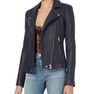 915557ed5e3 IRO Jackets   Coats - IRO Tara dark Navy Leather jacket