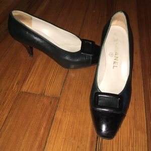 Chanel® Vintage Ruby Slipper 2Toned Leather Heels