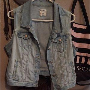 Old Navy Jackets & Blazers - Old Navy Women's Crop Jean Vest
