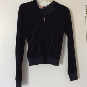 Juicy Couture navy velour jacket size S