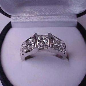 Jewelry - $16249  14k white gold 2ct diamond ring appraisal