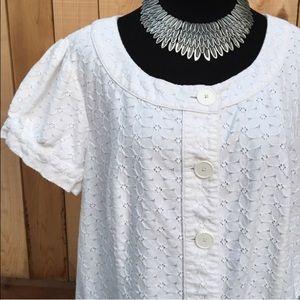 Semantiks Tops - White Lace Top