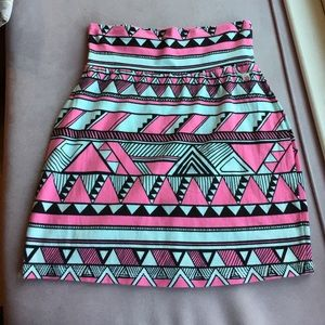 PINK Victoria's Secret Dresses & Skirts - VS Victoria's Secret PINK Aztec Cotton Mini Skirt