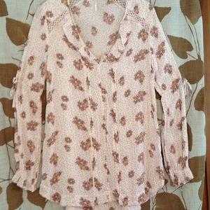 Free People floral print blouse