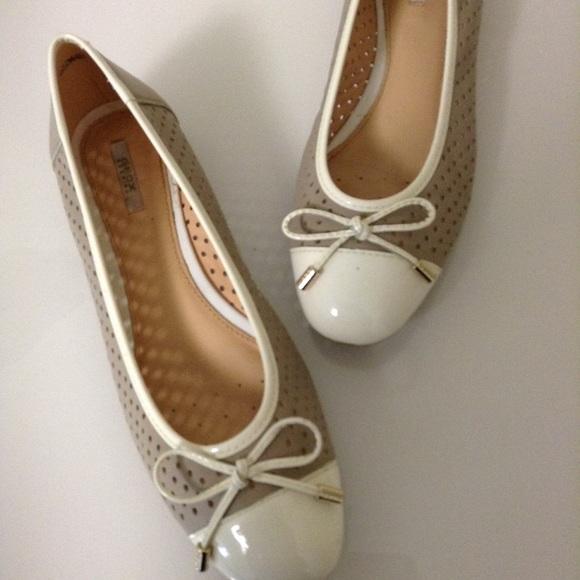 eb272c3f37 Geox Shoes | Ballet Flats Beige Ivory Two Tone Cap Toe 8 | Poshmark