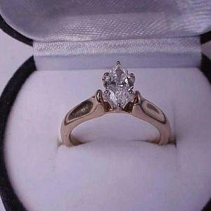 Jewelry - $6000 14k gold .80ct E!! diamond  engagement ring