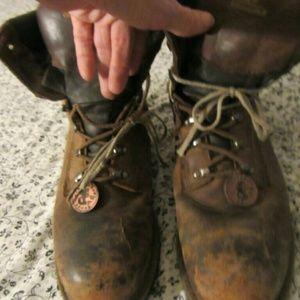 Chippewa Other - vintage chippewa IQ steel toed work boots 10 W