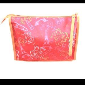 LANCOME Hot Pink & Orange Paris Accessories Bag