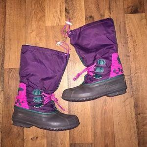 Sorel Shoes - Women's Size 8 Sorel Tall Winter Snow Boots Purple