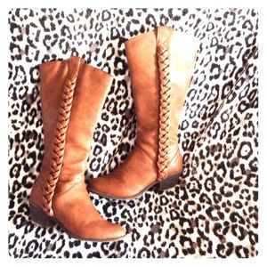 Unlisted Shoes - Unlisted country club brown western cognac boots