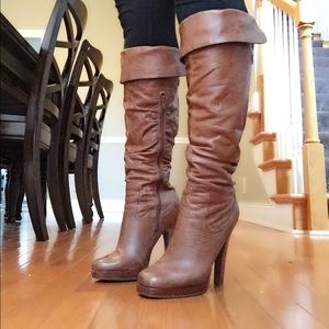 622f96e5bf37 Jessica Simpson Shoes - Jessica Simpson Tan Tulip Boots