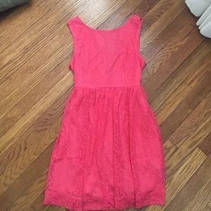 Ya Los Angeles Dresses & Skirts - ya Los Angeles - Pink Lace Mini Dress - Size M