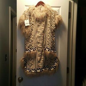 SALE!!!!!Unique faux fur Anna sui dress