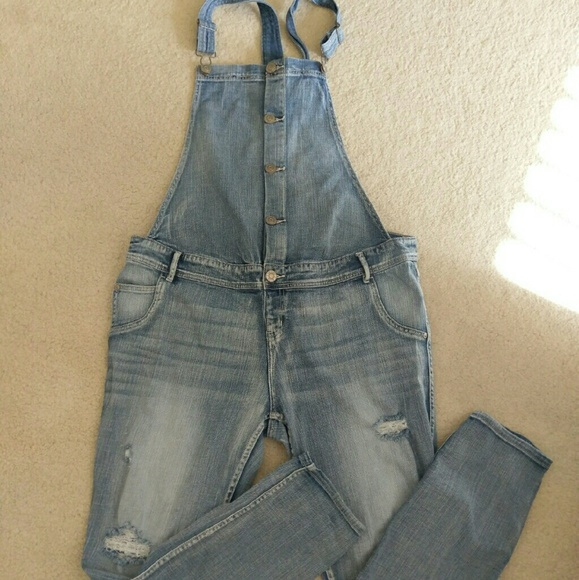 eae52c5b3b0 Indigo Blue Denim - Distressed maternity denim overalls