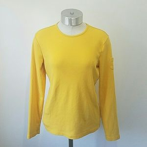 Lauren Ralph Long Sleeve Crewneck T-Shirt Yellow M