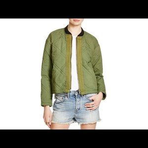 Free People Jackets & Blazers - Free People Green Quilted Bomber