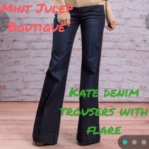 Mint Julep Boutique  Denim - Kate denim trousers with wide flare leg ⚓HP⚓