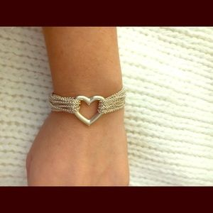 SALE Tiffany & Co. Multi Strand Heart Bracelet