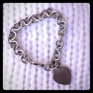 Tiffany & Co. Silver Heart Tag Bracelet
