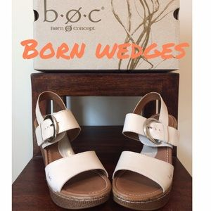 Born Shoes - New in box Born ivory wedges
