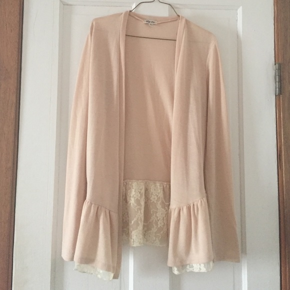 73% off Lily Star Sweaters - Nude/lace cardigan from Ashley's ...