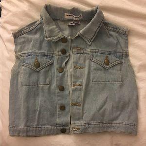 American Apparel Cropped denim vest